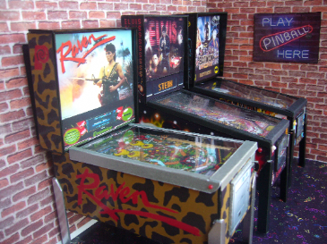Raven  1/12th Scale Miniature Pinball Table Model